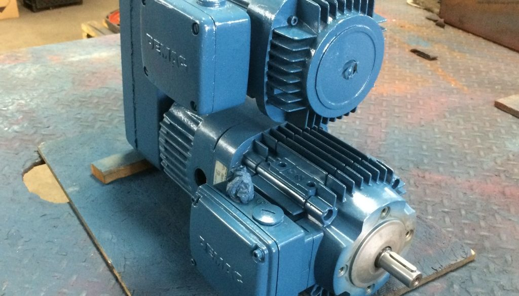 Repaired Demag Motor Ready For Testing American Electric