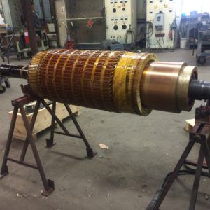 Rewound Armature For A 250 Hp Dc Motor American Electric