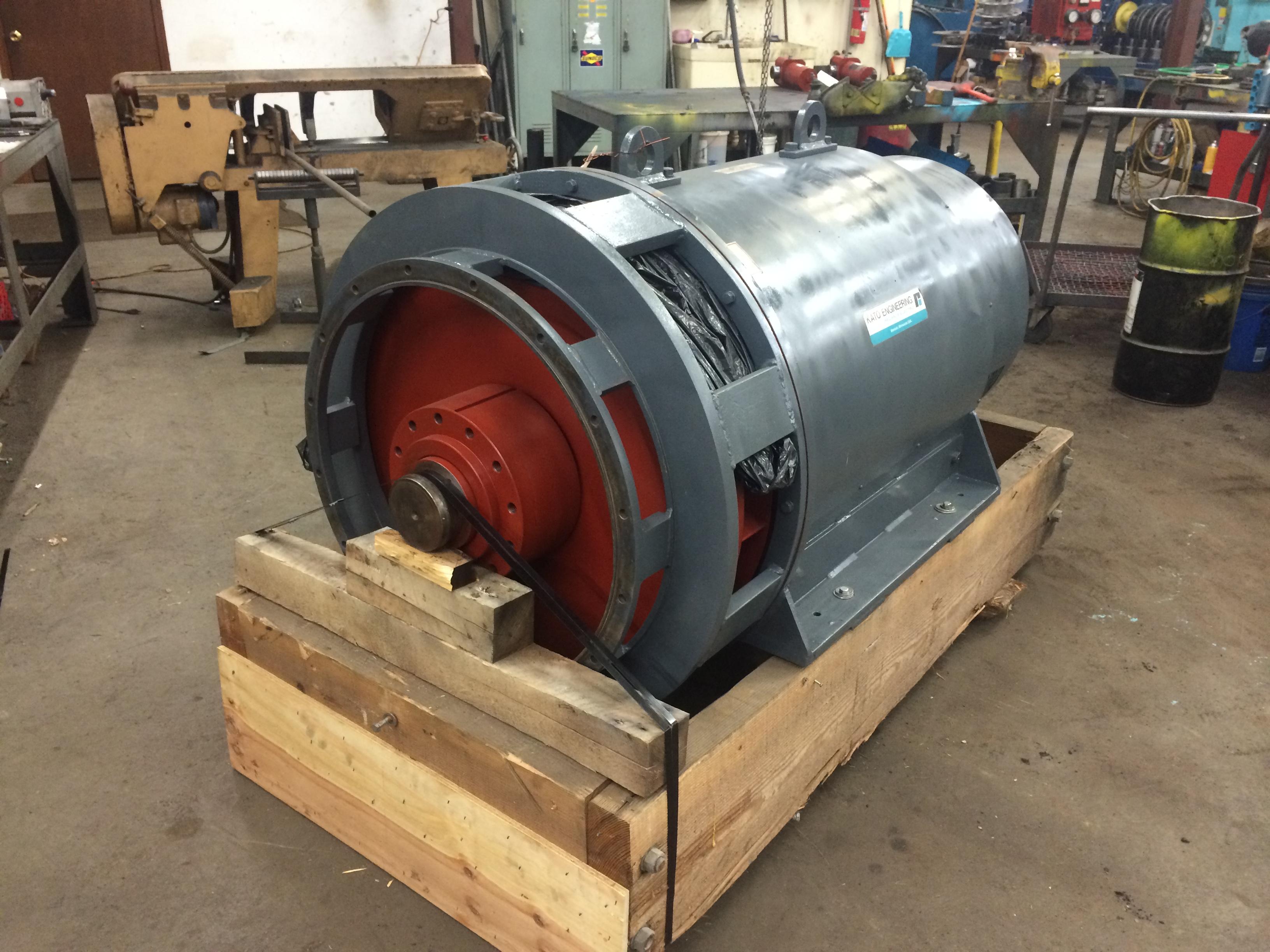 Kato 475 kw generator rebuild us coast guard american for Who rebuilds electric motors